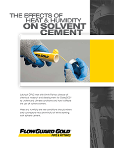 How climate conditions affect the use of solvent cement