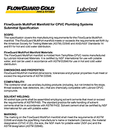 Thumbnail image of MultiPort Submittal Specification