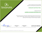 FlowGuard NGBS Green certificate