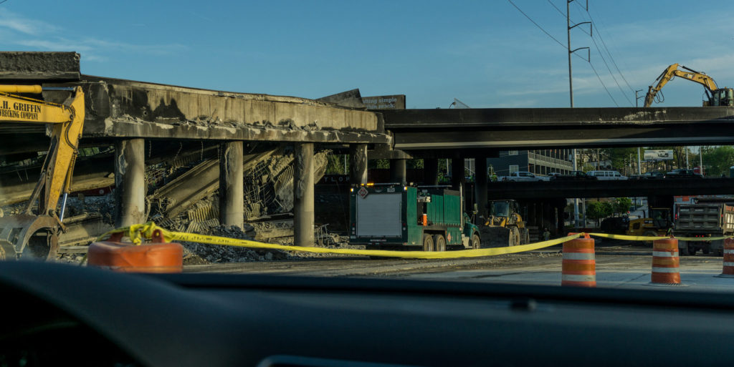 I-85 Bridge burn down