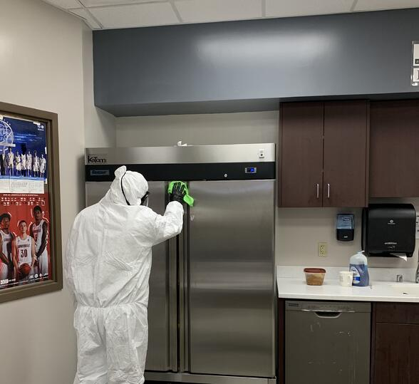 LZAM crew deep cleaning during COVID-19 pandemic
