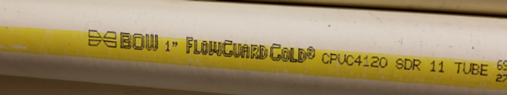 bow flowguard gold pipe