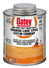 oatey orange lava solvent cement
