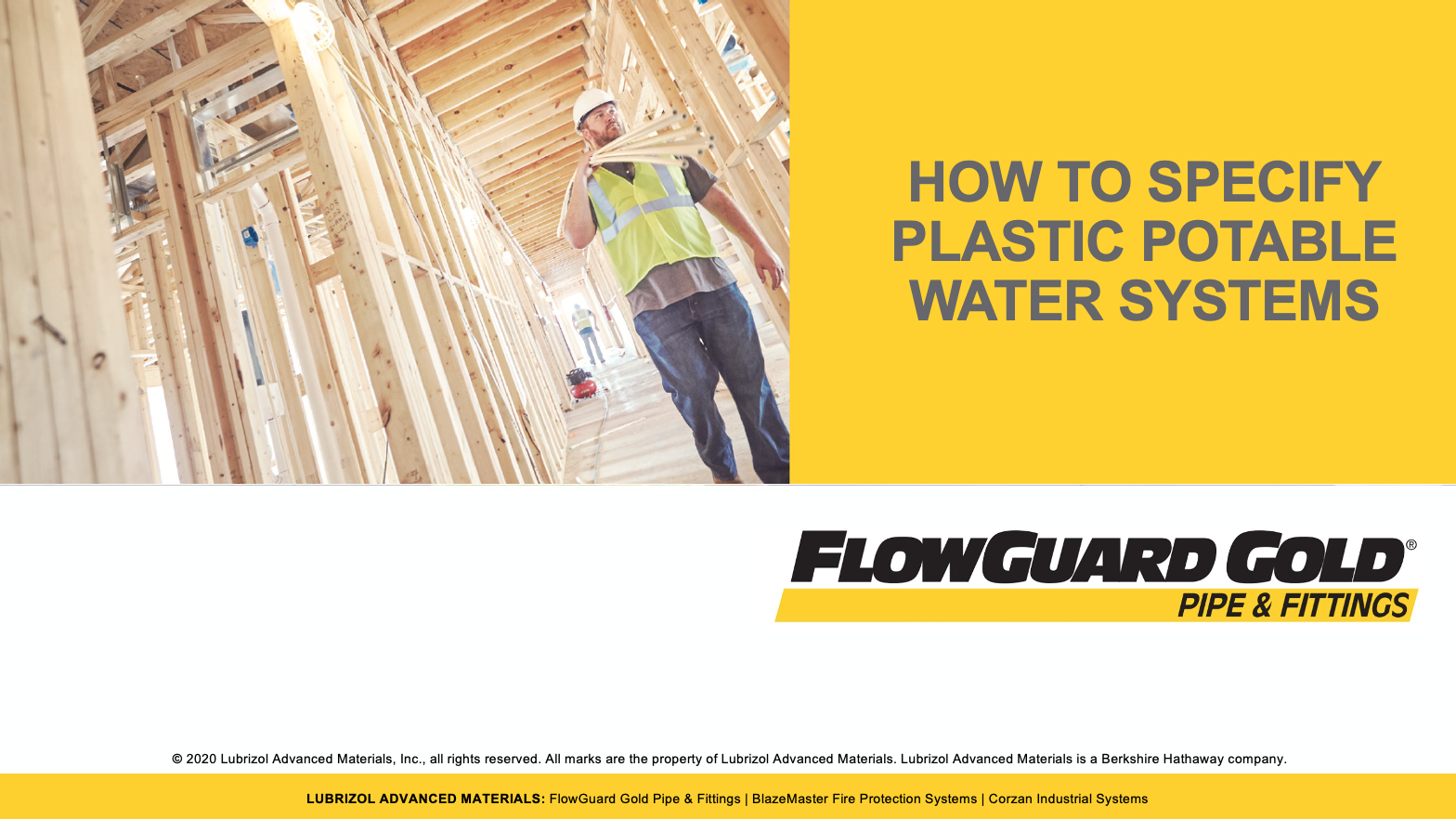 FlowGuard Gold - How to Specify Plastic Potable Water Systems